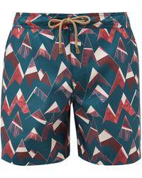 Thorsun - Peaks Geometric-print Swim Shorts - Lyst