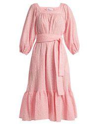 Lisa Marie Fernandez - Laure Broderie-anglaise Cotton Dress - Lyst