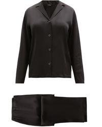 La Perla Silk-satin Pyjamas - Black