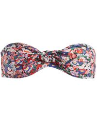 Ephemera   Liberty Tie-front Bandeau Bikini Top   Lyst