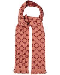 Gucci - Logo-print Wool Scarf - Lyst