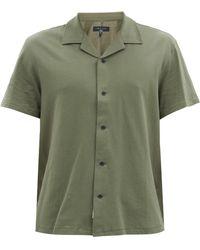 Rag & Bone エイブリー キューバンカラー コットンシャツ - グリーン