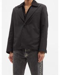 Séfr Séfr パワー ツイル シングルジャケット - ブラック