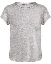 FRAME - スラブリネンtシャツ - Lyst