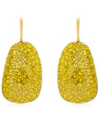 Isabel Marant - Square Marbled-stone Drop Earrings - Lyst