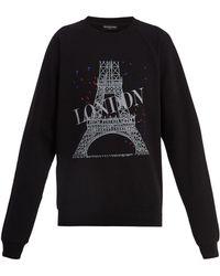 Balenciaga - Graphic-print Cotton-blend Sweatshirt - Lyst