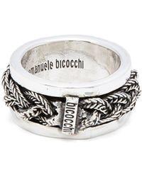 Emanuele Bicocchi - Onyx Sterling Silver Ring - Lyst