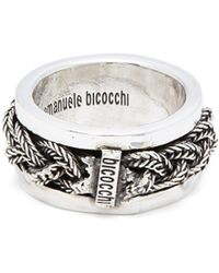Emanuele Bicocchi - Braided Sterling Silver Ring - Lyst