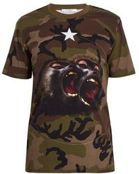 Givenchy - Monkey Brothers Camo Cotton T-shirt - Lyst
