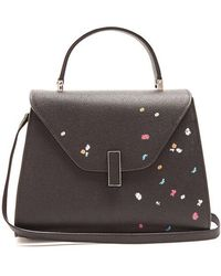 Valextra - Iside Medium Floral-print Grained-leather Bag - Lyst