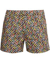 Missoni Printed Cotton Swim Shorts - Multicolour