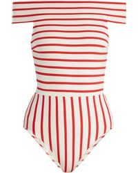 a7403117f71 Solid & Striped - The Vera Off The Shoulder Swimsuit - Lyst