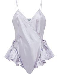 Raey Body en satin de soie X Lucy Jones - Violet
