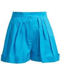 Vika Gazinskaya - High-rise Wide-leg Cotton Shorts - Lyst