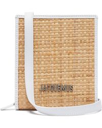 Jacquemus Le Gadjo Xs Straw Necklace Bag - Natural