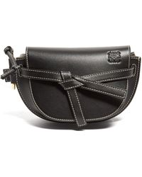 Loewe Gate Small Woven Leather Belt Bag - Black