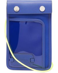 JW Anderson Pulley Leather Cross-body Pouch - Blue