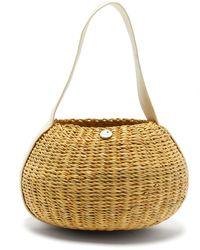 Muuñ Oriane Straw Basket Bag - Natural