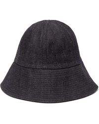Jil Sander Oversized Denim Bucket Hat - Blue