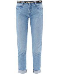 Stella McCartney Logo-jacquard Belted Jeans - Blue