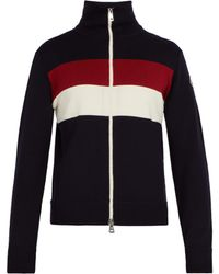 Moncler - Striped Wool Blend Jumper - Lyst