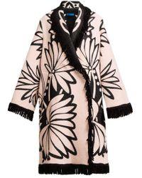 Marit Ilison - Double-breasted Palm-intarsia Coat - Lyst