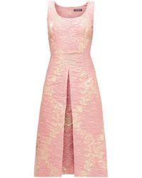 Dolce & Gabbana - メタリックフローラルジャカード ドレス - Lyst