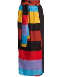 Mara Hoffman - Cora Tie-waist Striped Wrap Skirt - Lyst