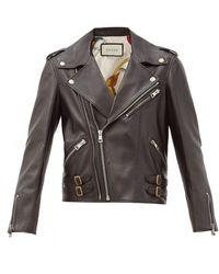 Gucci Leather Biker Jacket - Black