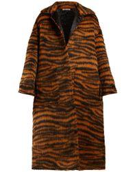 Bottega Veneta - Tiger-stripe Coat - Lyst
