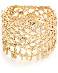 Aurelie Bidermann - Diamond & Yellow Gold Ring - Lyst