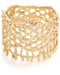 Aurelie Bidermann Diamond & Yellow-gold Ring - Metallic