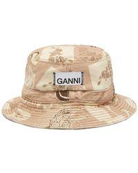 Ganni - デニムバケットハット - Lyst