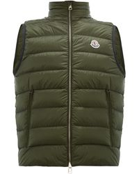 Moncler Iori Quilted Down Gilet - Green