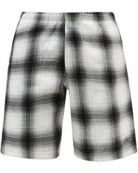 Noon Goons Coastin Check Cotton-fleece Shorts - Black