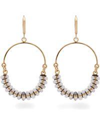 Isabel Marant - Tropical Beaded Hoop Drop Earrings - Lyst
