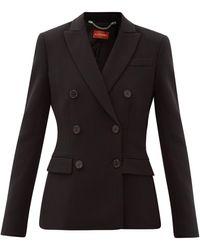 Altuzarra インディアナ クレープ ダブルスーツジャケット - ブラック