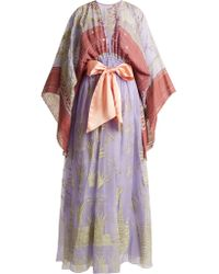 Zandra Rhodes Summer Collection The 1973 Field Of Lilies Gown - Purple