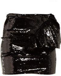 Alexandre Vauthier - Ruffled Sequinned Mini Skirt - Lyst