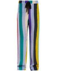 Diane von Furstenberg - Straight-leg Striped Pyjama Trousers - Lyst