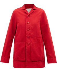 Toogood The Photographer Cotton-canvas Worker Jacket - Red