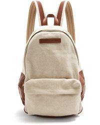 Brunello Cucinelli - Canvas And Leather-trimmed Backpack - Lyst