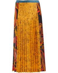 La Prestic Ouiston - Sagan Pleated Silk Satin Skirt - Lyst