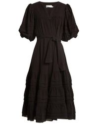 Zimmermann - Prima Belted Cotton Dress - Lyst