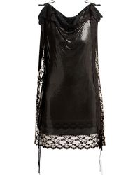 Christopher Kane - Lace Trim Chainmail Mini Dress - Lyst
