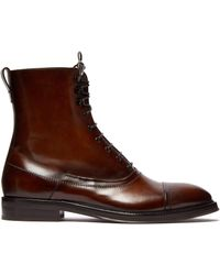Berluti - Burnished Leather Lace Up Boots - Lyst