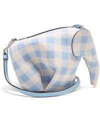 Loewe - Elephant Gingham Leather Cross-body Bag - Lyst