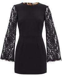Dolce & Gabbana レーススリーブ キャディミニドレス - ブラック