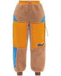 Stella McCartney カラ カラーブロック テディ トラックパンツ - マルチカラー
