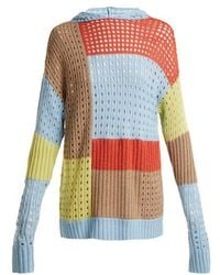 House of Holland - - Patchwork Hooded Wool Blend Jumper - Womens - Multi - Lyst